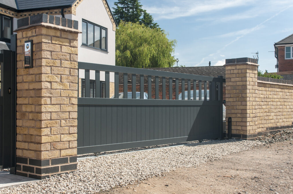 Sliding metal gates